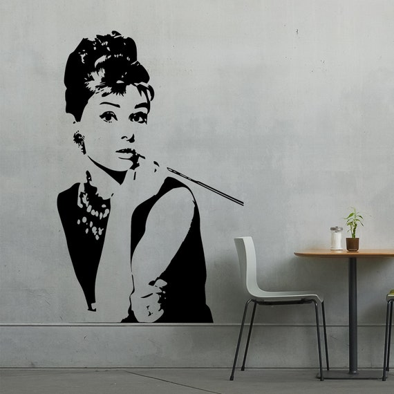 Audrey Hepburn Vinyl Wall Sticker Iconic by ...