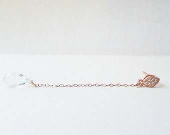 Rose Gold - crystal earrings