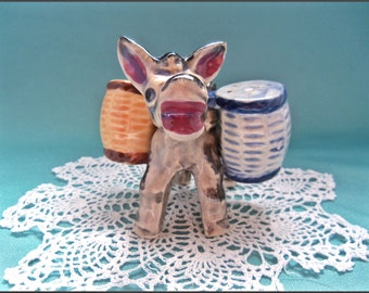 Vintage Donkey Burro Salt and Pepper Shakers