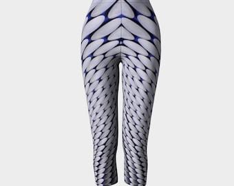 Womens Printed Capri/Cropped Leggings New Street - Brum Rules