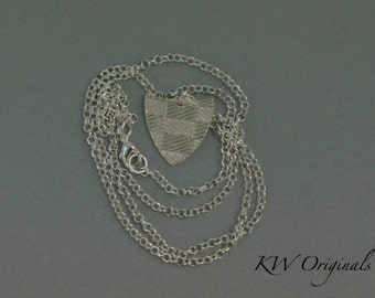 Sterling Silver Shield Pendant with Chain