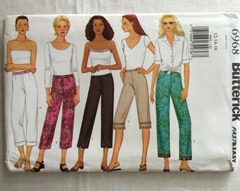 Butterick 6968 UNCUT New Misses Size 12, 14, and 16 Pants Pattern