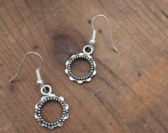 Circle Flower Earings