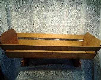 ANTIQUE 1800s Rocking Cradle