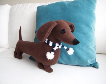 Sausage dog soft toy ( Free shipping within the UK)