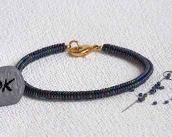 Beads Bracelet, gift, Bangle trend, herringbone, anniversary, customized, jewel bracelet Rainbow bracelet, small
