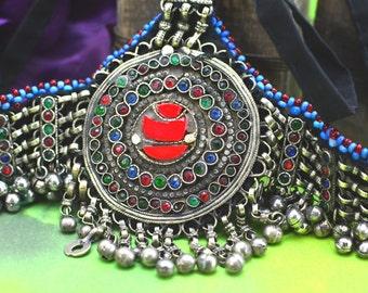 Belly Dance jewelry,Tribal Hair Jewelry,Kuchi head piece,Afghan Headdress,Afghan Gypsy Tribal Headdress ,Belly Dance Headpiece,Free shipping