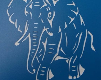 Little Elephant Stencil