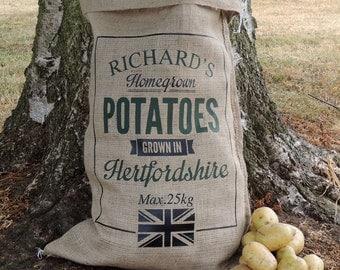 Personalised Hessian Vegetable Sack