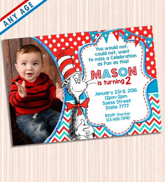 Printable Dr Seuss Party Invitation