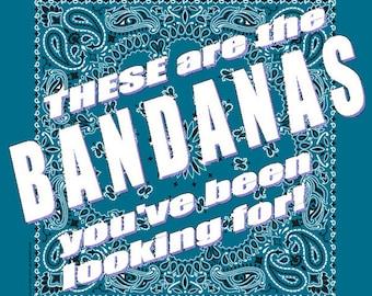 BANDANA - Bandanna. Premium Paisley Hav-A-Hank Bandana. TEAL. Mirage. Made in the USA.