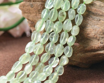 Natural Soft Green Prehnite Gemstone Small Pebble Nuggets Beads Supplies