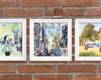 Set of 3 Oasis Art Prints, posters, paintings