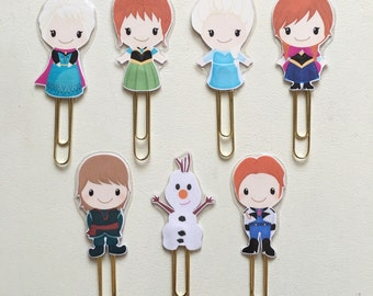 Fairy Tale Frozen Double Sided Planner Clip - Made to Order