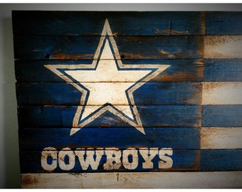 Dallas Cowboys Nation, Dallas Cowboys Flag, Dallas Cowboys Wood Flag, Vintage Dallas Cowboys Sign, Dallas Cowboys Sign