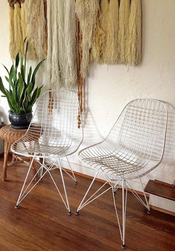 pair of original eames dkr chairs