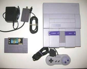 Super Nintendo Snes Complete console system with super Mario world