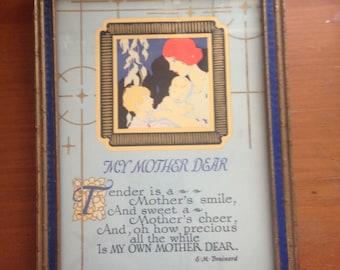 Vintage Mother Poem by E. M. Brainerd