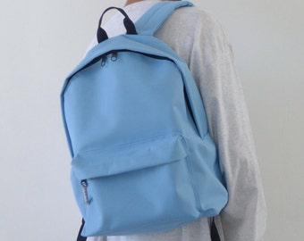 Minimalist Backpack Light Blue