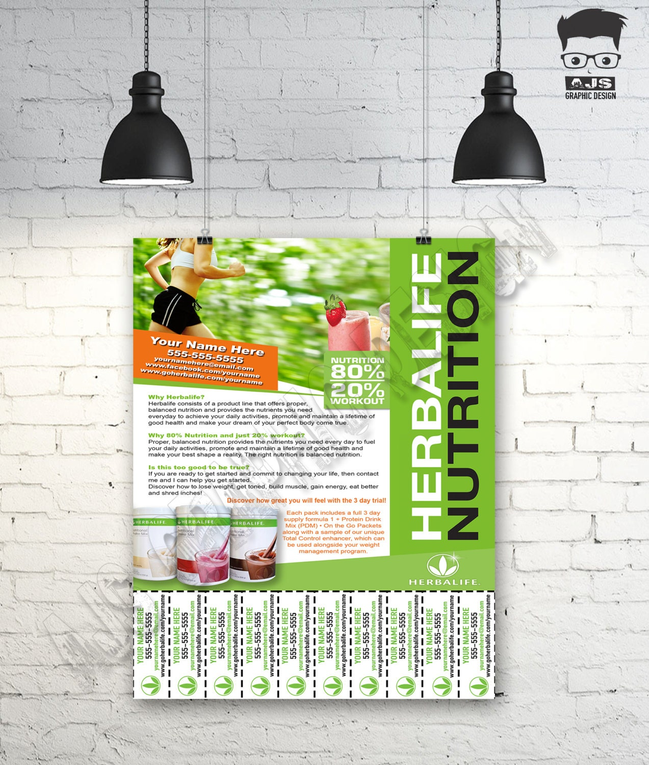 custom print ready herbalife contact flyer by ajsgraphdesign. Black Bedroom Furniture Sets. Home Design Ideas