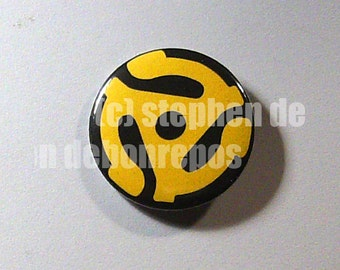 Vintage/Old School/Vinyl 45 RPM Record Spacer/Adapter button!!