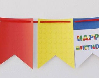 Lego Party banner  Building blocks party decor