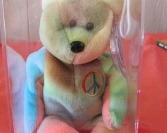 Ty Beanie Babies Peace Bear
