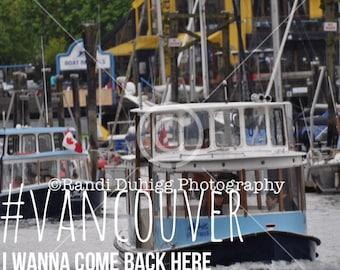 Vancouver Boat Photograph Unframed 4x4