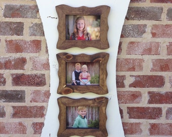 Fun and funky picture frame for three 5x7s.