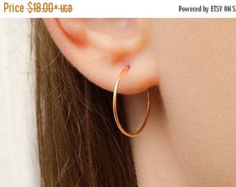 VALENTINES DAY - Hoop Earrings, Gold Hoop Earrings, Silver Hoop Earrings, Large hoop earrings, Simple Hoop Earrings, Classic Thin Hoop Earri