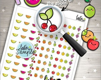 60%OFF - Fruit Stickers, Printable Planner Stickers, Fruit Stamps, Fruits, Cute Stickers, Kawaii Stickers, Planner Accessories, Stamps