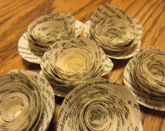 50- Jane Eyre Book Page Roses