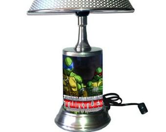 Teenage Mutant Ninja Turtles Lamp with chrome shade, Mutants in Manhattan
