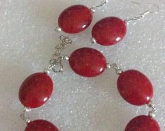 oval bracelet & earrings