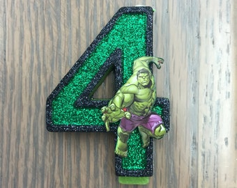 """Handcrafted """"Avengers"""" or ANY Themed Birthday Candles- Decorated To Your Liking"""