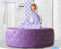 Sofia the First Cake Topper PERSONALIZED DIGITAL FILE, You Print