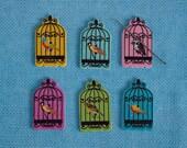 Needleminder / needle keeper / needle knack for cross stitch / embroidery / needlework / xstitch / bird in cage