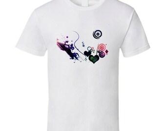 Heart Abstract T Shirt
