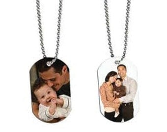 Beautiful Personalized Sublimation Dog Tags with Chain