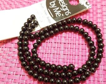 Cousin Designs by Me 4mm Black Glass Pearls, 92 pieces AJM63716124