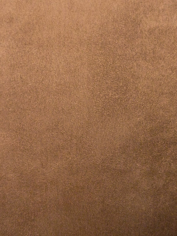 Medium brown faux suede utility fabric by the yard by for Suede fabric
