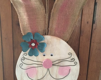 Wooden Bunny Face