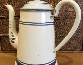 Vintage Austrian Enamel Coffee Pot