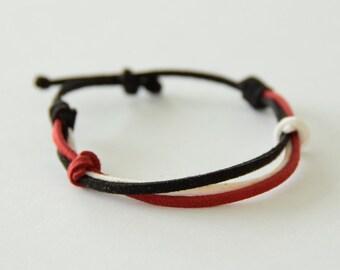 Faux Suede Colorful Bracelet
