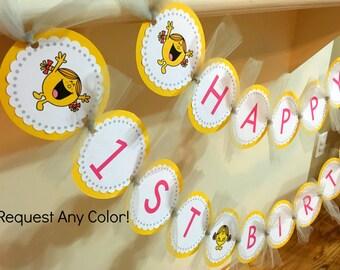Little Miss Sunshine Birthday Banner, Yellow Birthday, Girl Birthday, Boy Birthday, 1st Birthday, 2nd Birthday, Baby Shower, Pink Birthday