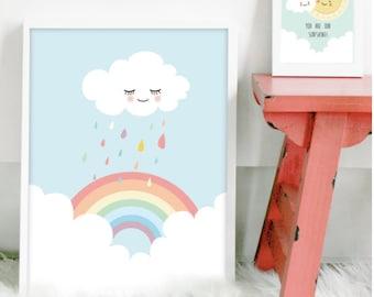 Rainbow poster | art print | nursery art | kids poster | home decor