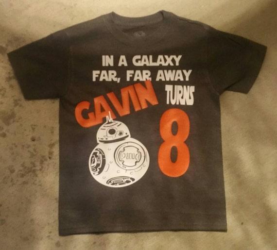 2fab42a3 BB-8 Star Wars Birthday Shirt