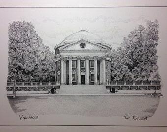 University of Virginia 9x12 Rotunda print