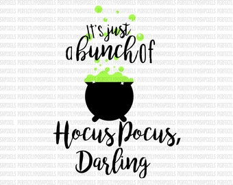 Hocus Pocus Darling HTV Sanderson Sisters SVG Files I put a spell on you Halloween svg file Hocus Pocus Silhouette Circuit Iron On Decal