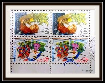 Dutch children edition on a used postage stamp set from 1980